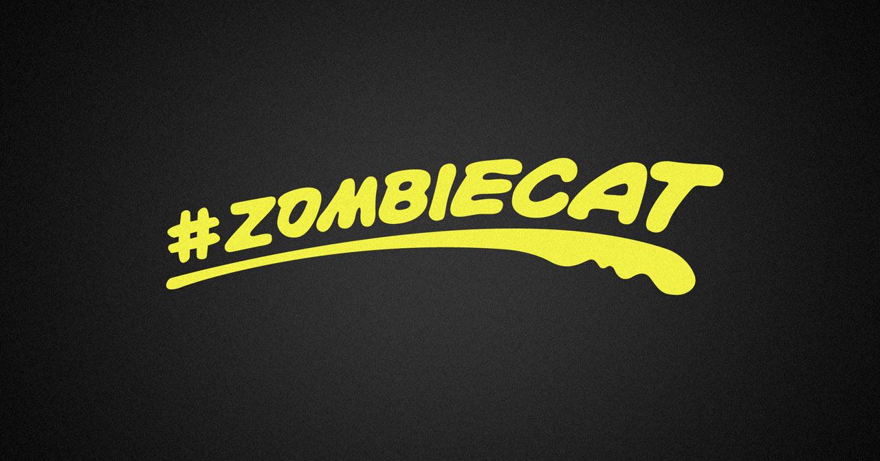 puma zombie cat decal